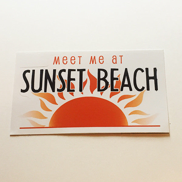 Meet Me at Sunset Beach Sticker