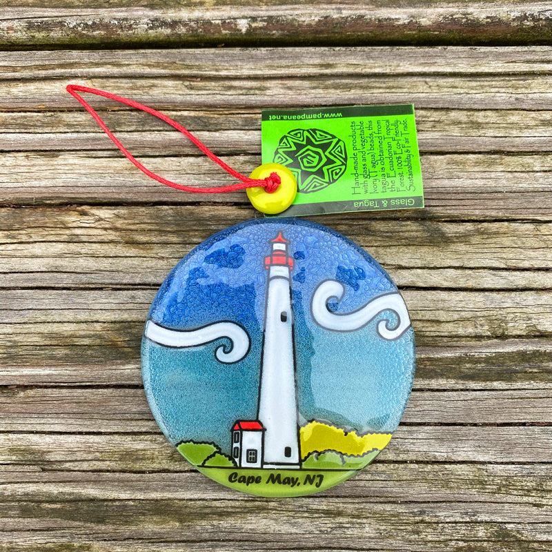 Cape May Lighthouse Ornament by Pampeana