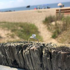 5mm Cape May Diamond Ring with Leaf Design