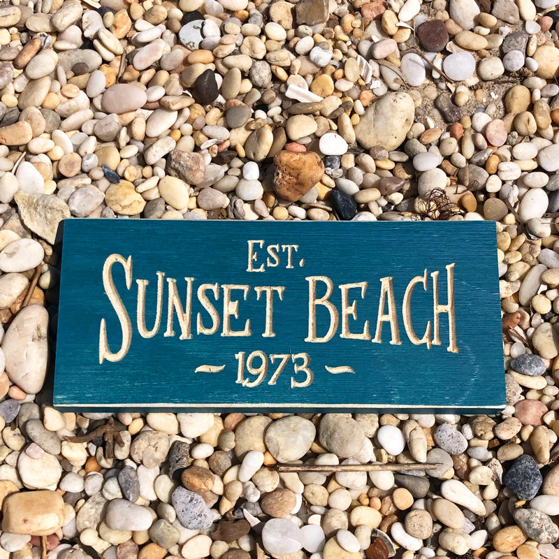Sunset Beach 1973 Sign