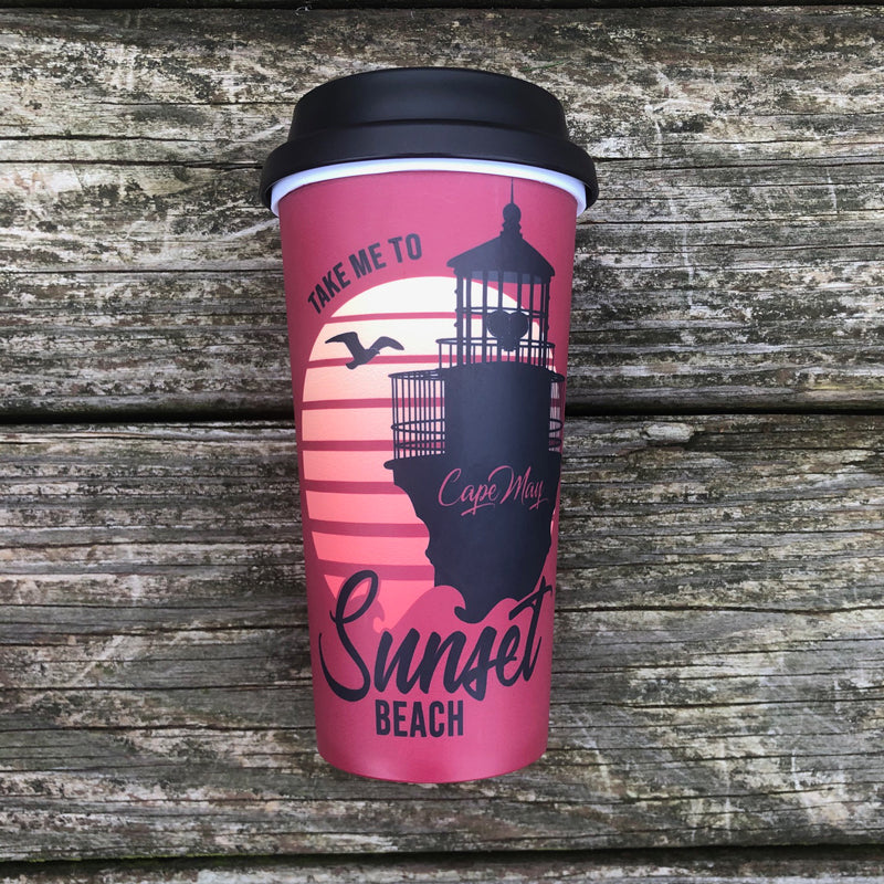 Sunset Beach Travel Mug