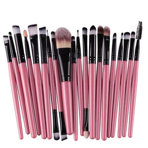20 Pcs Pro Makeup Brush Set Powder Foundation Eyeshadow Eyeliner Lip - The JfJ