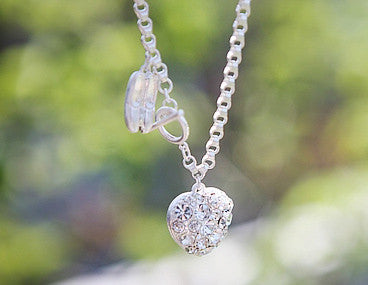 Exquisite Ballet Shoes and Heart Pattern Rhinestoned Pendent Bracelet - The JfJ