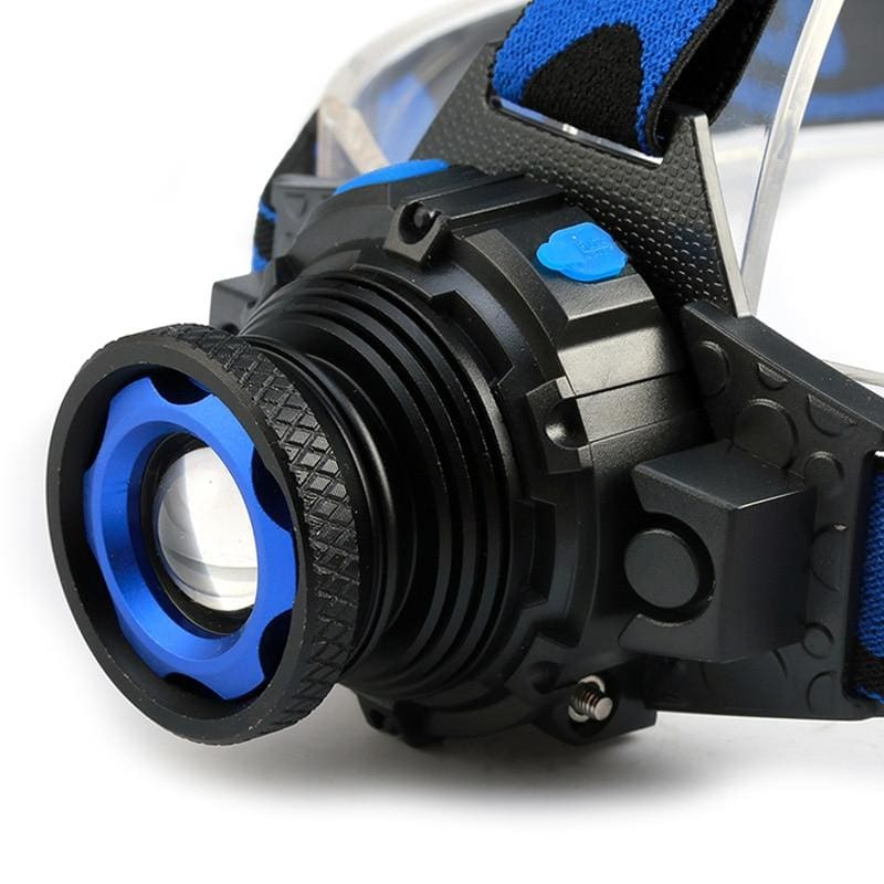 3 Modes Zoomable LED Q5 Headlamp Waterproof High Brightness Built-in Lithium Battery Rechargeable - The JfJ