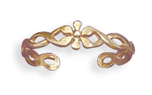Toe Ring 14 Karat Gold Plated Flower - The JfJ