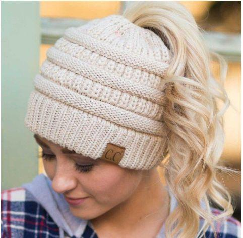 Ponytail Knit Beanie - The JfJ