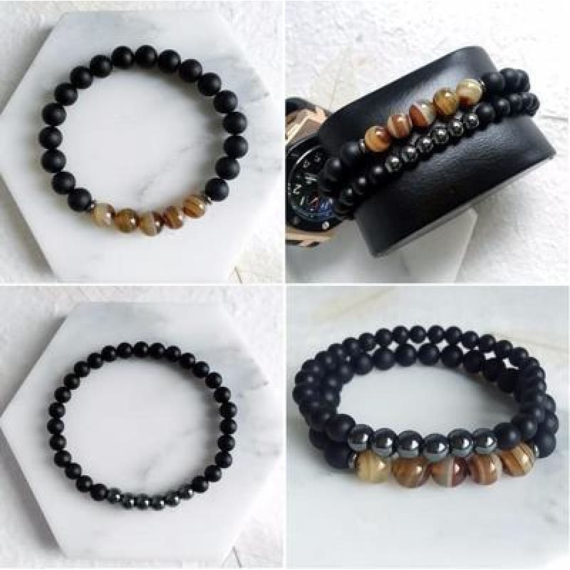 Balancing Hematite Agate Protection Bracelets - The JfJ