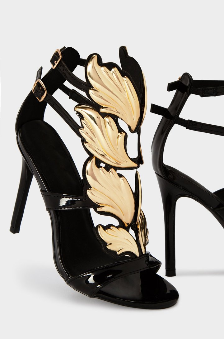 Angelic - Black & Gold Heels - The JfJ