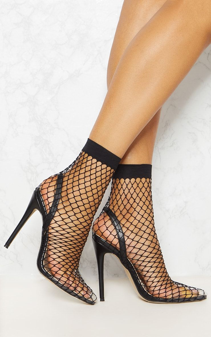 FISHNET SLINGBACK POINTED TOE HEELS - The JfJ