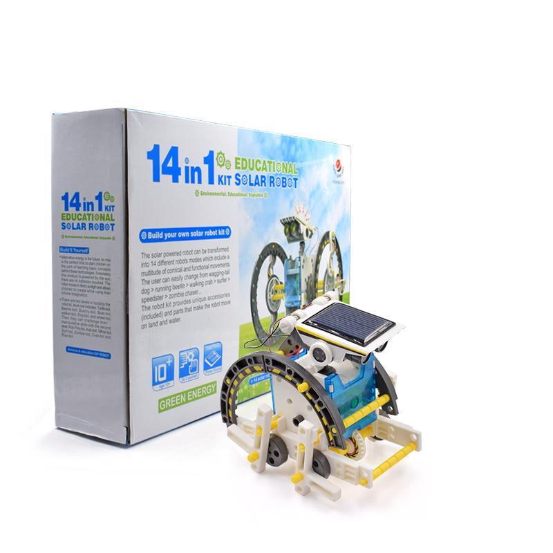 Advanced 14 in 1 DIY Solar Robot Kit - The JfJ
