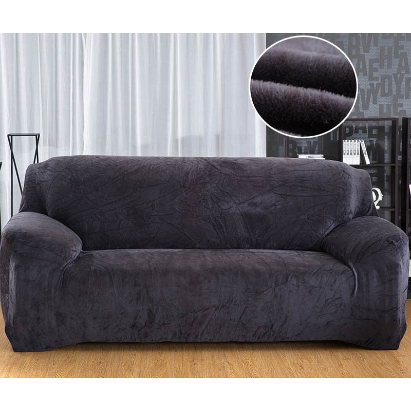 Plush Thick Elastic Couch Cover - The JfJ