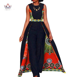 Elegant African Sleeveless Jumpsuit - The JfJ