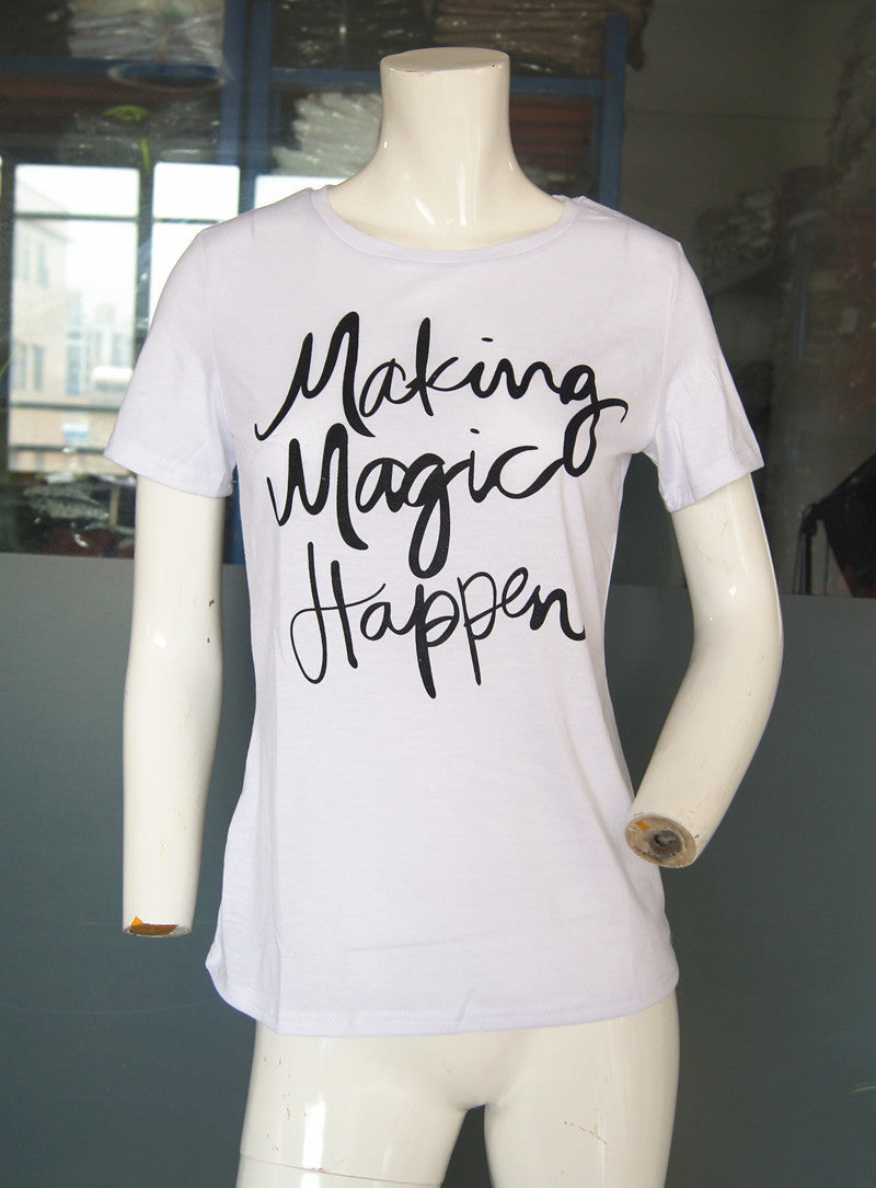 Make Magic Happen printed Women's T-shirt - The JfJ