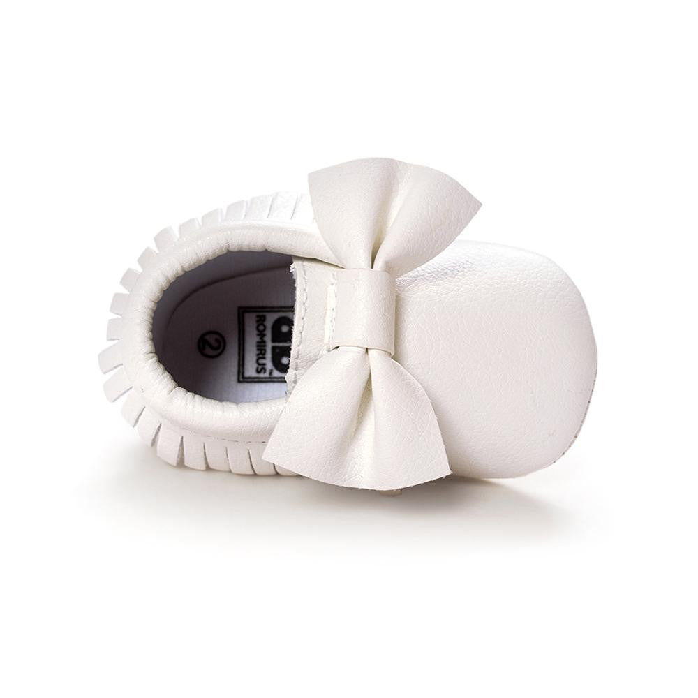 Suede Leather Newborn Boy & Girl Baby Moccasins - The JfJ