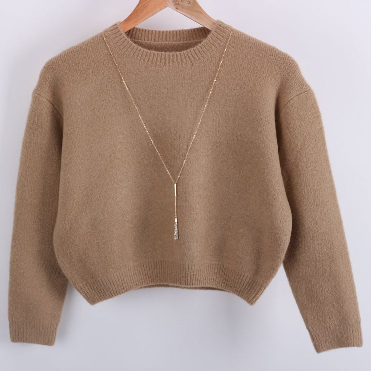 Wool Blend Knit Women's Sweater - The JfJ