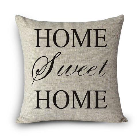 Printed Home Decorative Pillow/ Vintage Cotton Linen Square Throw Pillow - JfJ