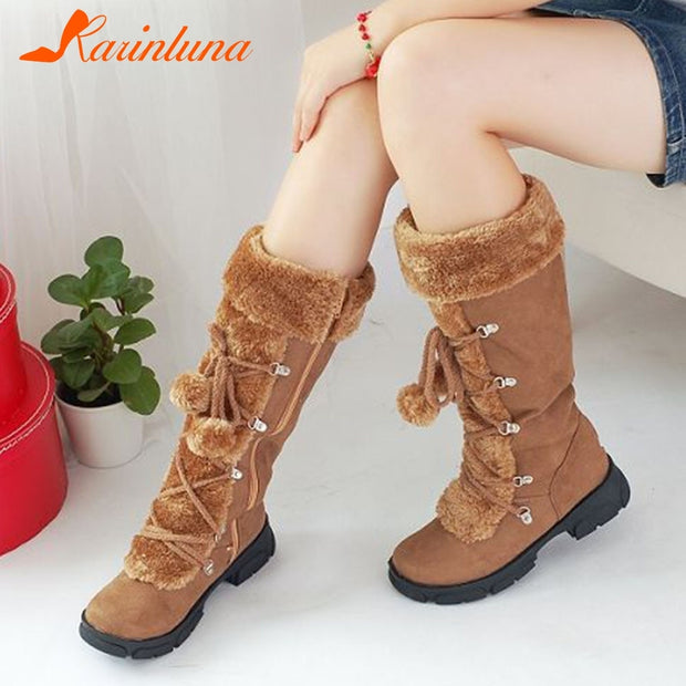 Knee Side Zipper Snow Boots - The JfJ