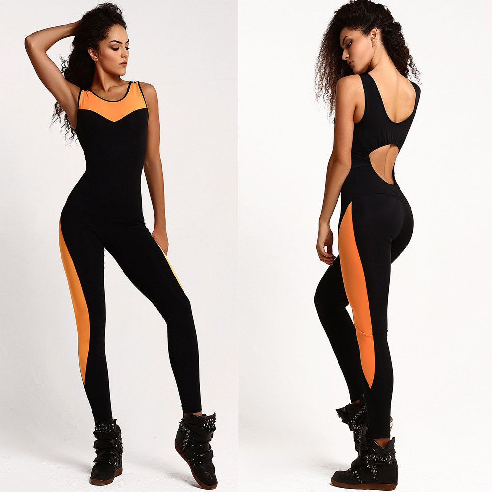 Women Backless Cross Halter Sportswear Bodysuit - The JfJ