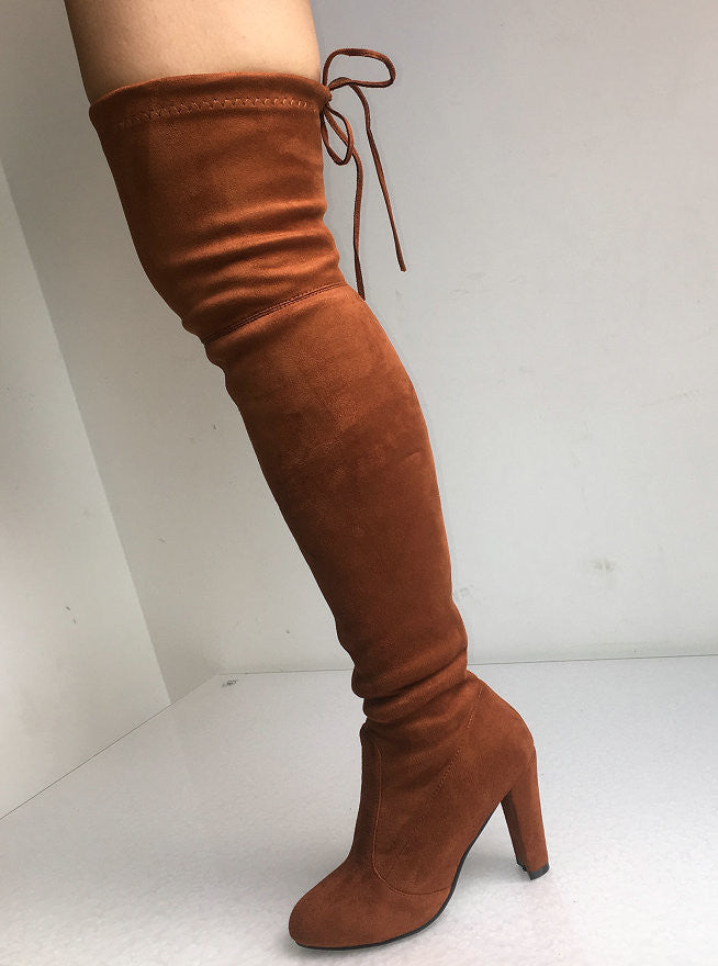 Women Faux Suede Thigh High Boots - The JfJ