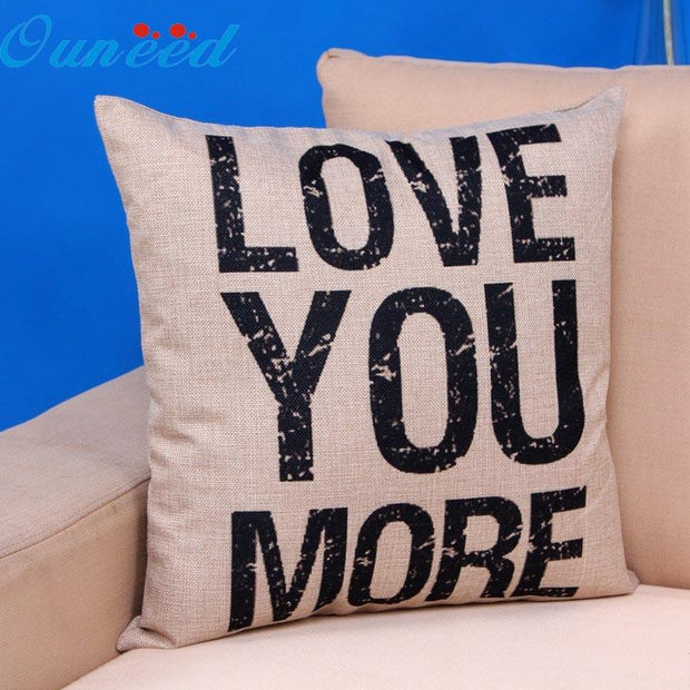 """Love you more "" Throw Pillow Cover - The JfJ"