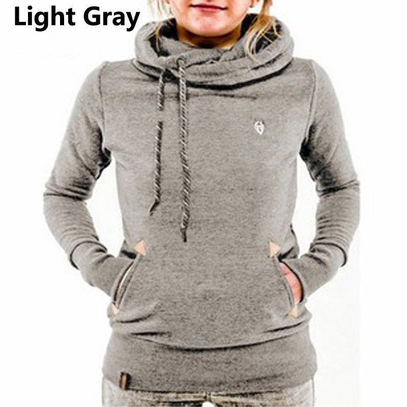 Long-sleeved Women's Hoodies with Pocket - The JfJ