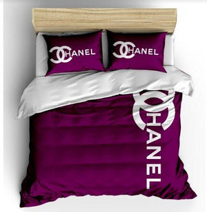 Chanel 6 PC 100% Cotton Bedding Set