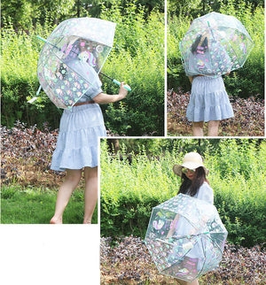 Kids Transparent Unicorn Umbrella