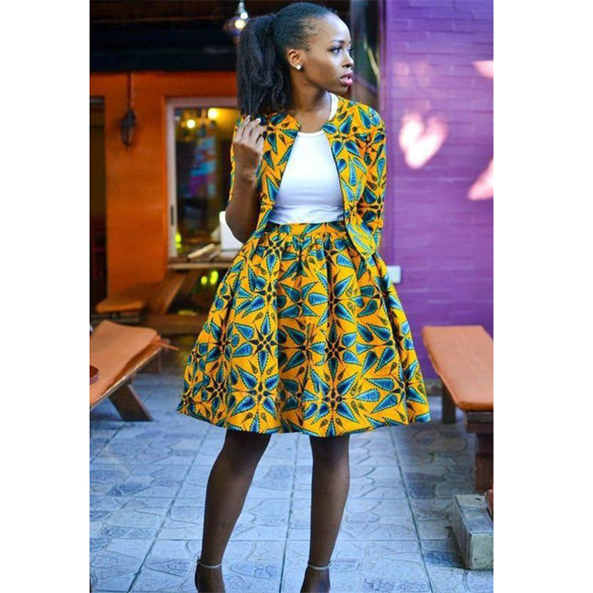 African Tutu Coat Skirts Set