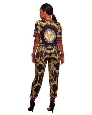 African Print Casual Two Piece Sets