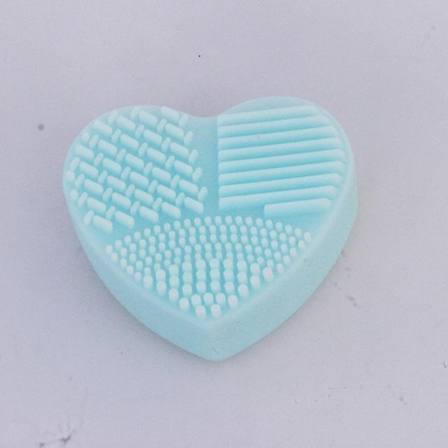 Heart Shape Makeup Brush Cleaning - The JfJ