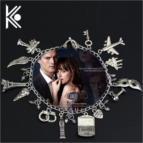 50 Fifty Shades of Grey Charm Bracelet - JfJ