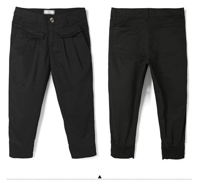 Casual Cropped Trousers Pants(Plus Size) - The JfJ