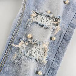 Lace Beaded Jeans - The JfJ