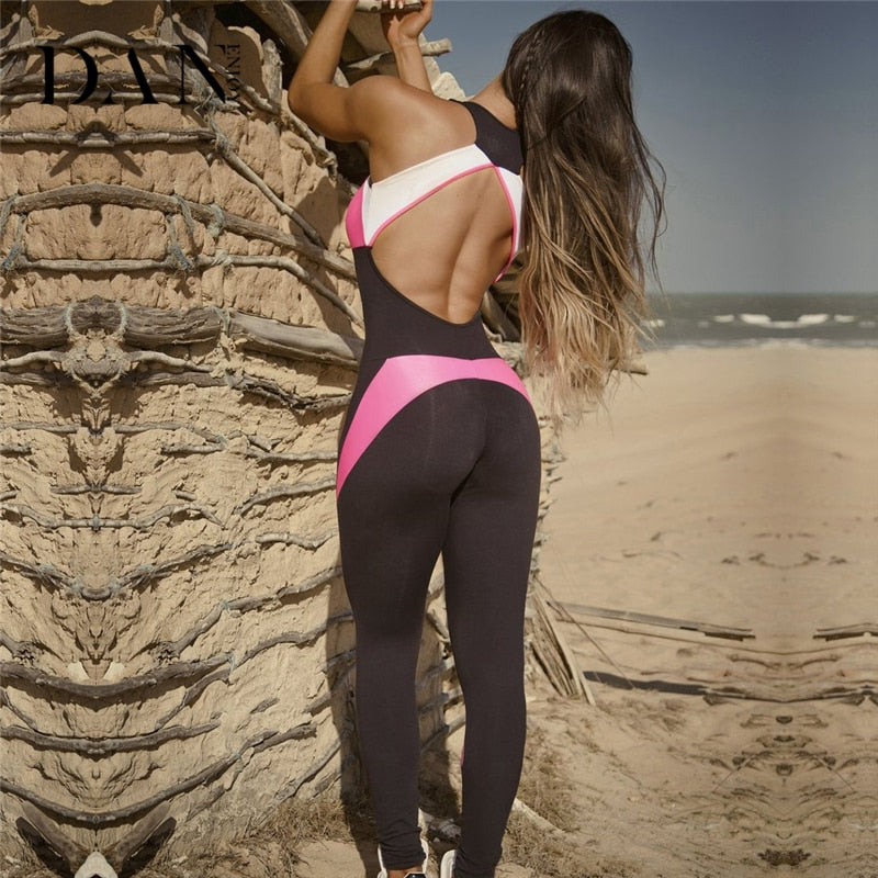 Pink Out Backless Jumpsuit - The JfJ