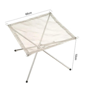 Portable Folding Stainless Steel Campfire Stand - The JfJ