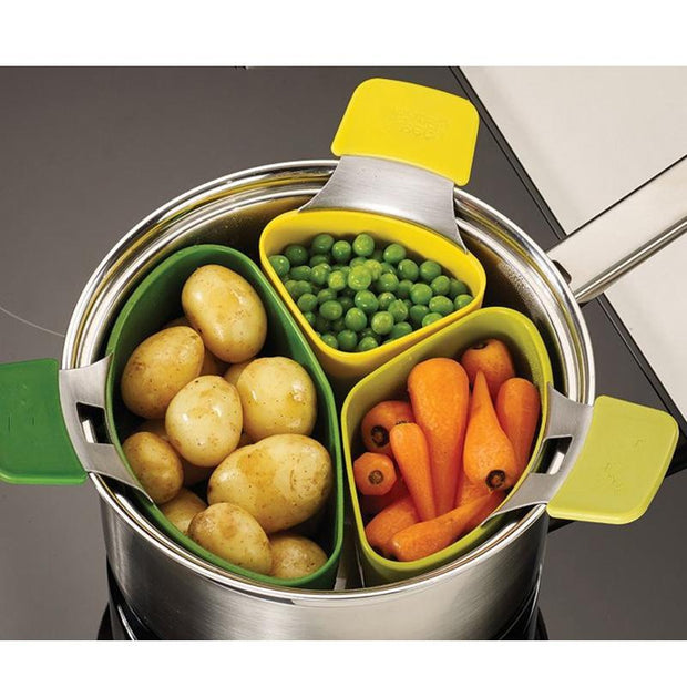 3 Set Stainless Steel Food Steamer - The JfJ