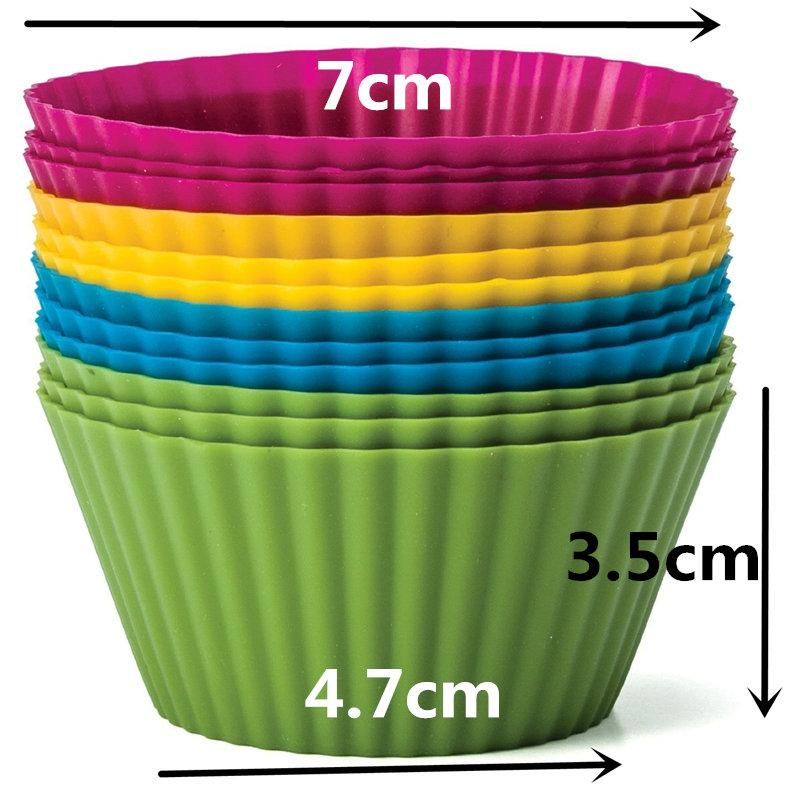 Pantry Elements® Jumbo Silicone Baking Cups (12-Pack) - Vibrant Collection - The JfJ
