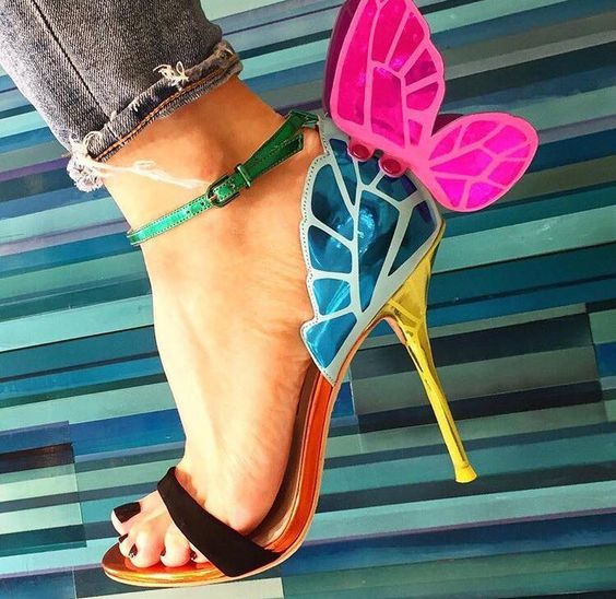 Butterfly Ankle Wrap High Heels Sandals - The JfJ