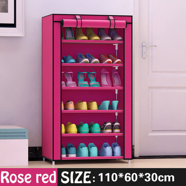 Shoe cabinet 7-layer 6-grid  shoe storage - The JfJ