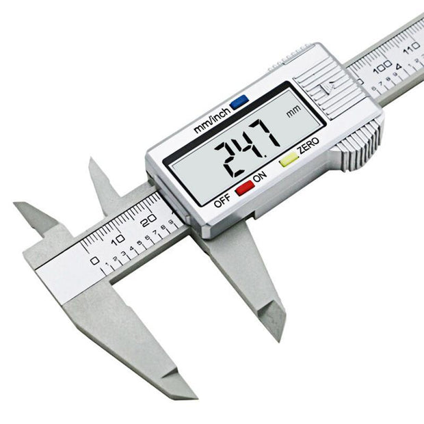 1 PC New 0-150mm 6inch LCD Digital Electronic Carbon Fiber Vernier Caliper Gauge Micrometer Measuring Tool VEP33 - The JfJ