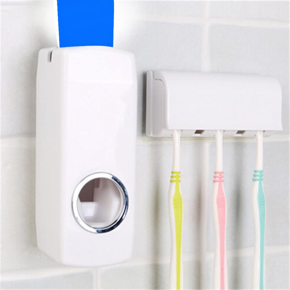 Automatic Toothpaste Dispenser + 5 Toothbrush Holder - The JfJ