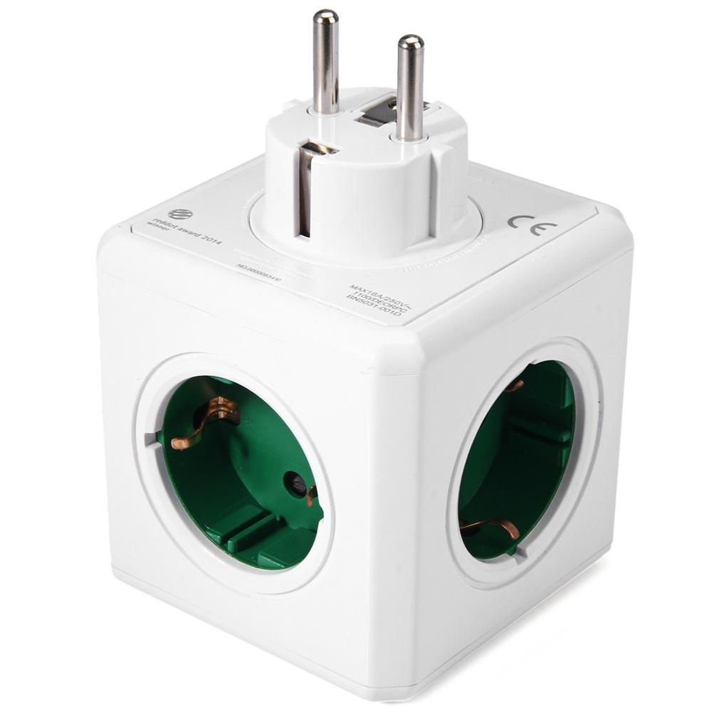 1 Piece 5 Outlets Adapter (EUROPEAN SOCKET) - The JfJ