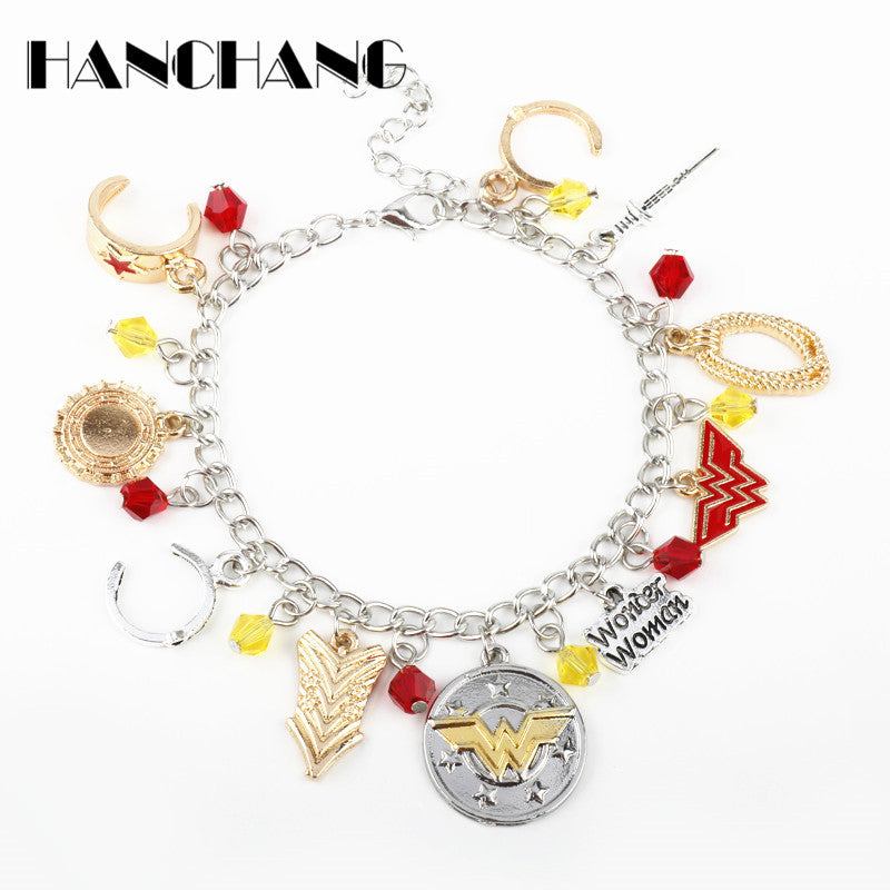 Wonder Woman Charms  Bracelet - The JfJ