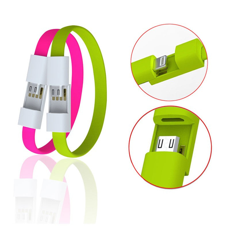 Micro USB Charging Data Sync Cable Bracelet Wrist Band Charger For Mobile Phone - The JfJ