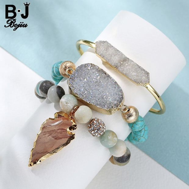 3pcs/Set  Natural Stones Bracelet - The JfJ