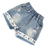Chiffon Pearl Vest Shirt +Jean Shorts 2pc - The JfJ