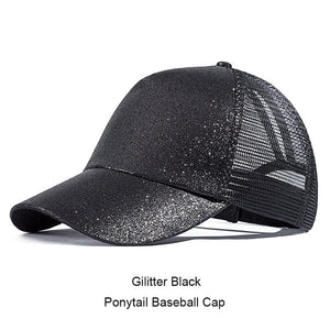 Womens Ponytail Messy High/ Buns Mesh Trucker Ponycaps Plain Baseball Cap Dad Hat Adjustable Size,Variy Styles and Colors