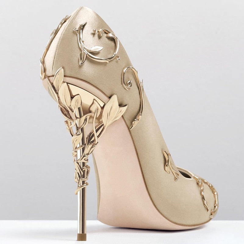 Elegant Flower Silk Pumps - The JfJ