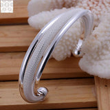 Stamped Silver Plated Bangle(Free Item)
