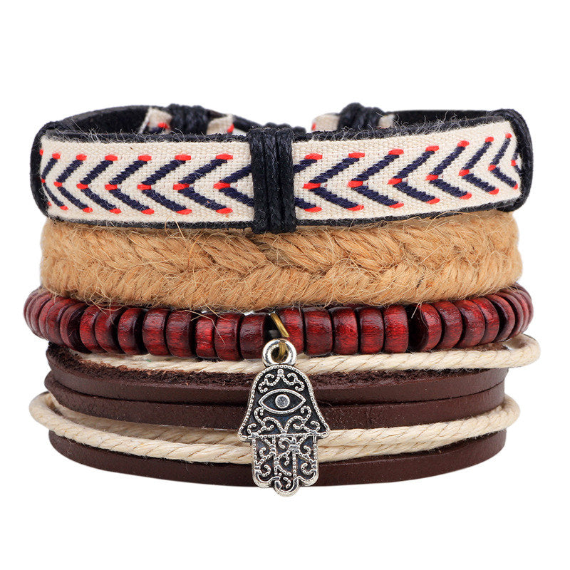 Boho Gypsy Hippie Stackable Bracelets 4pcs/set Handmade - The JfJ
